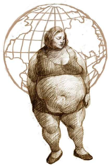 Obese Woman-GLOBESITY - Healthy Weight bootcamp - nonprofit org